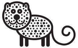 逗人喜爱的动物豹子-例证 免版税库存图片