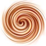 打旋的乳脂状的纹理传染媒介背景  库存图片
