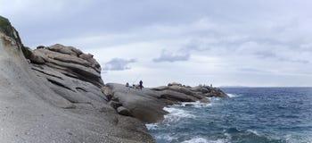 厄尔巴岛,海视图 免版税图库摄影