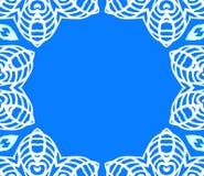 导航与白色鞋带的几何艺术装饰框架 库存图片