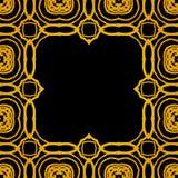 导航与金子形状的几何艺术装饰框架 免版税库存照片