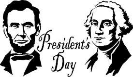 林肯华盛顿总统 库存照片