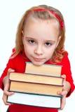有书的女孩 库存图片