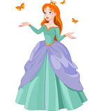 公主和蝴蝶 免版税库存图片