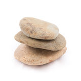 被隔绝平衡石头温泉的禅宗 免版税库存图片
