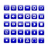 Кнопки медиа-проигрывателя Стоковая Фотография