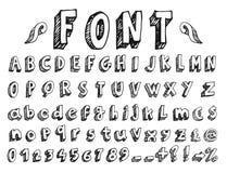 手写的字体 免版税图库摄影