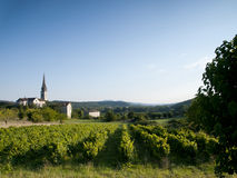 法国风景的老教会 免版税库存照片