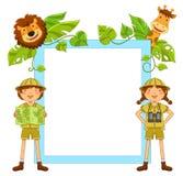 孩子在密林 免版税库存图片