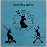 鹿狩猎徽章汇集 免版税库存图片