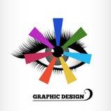 图形设计三原色圆形图 库存图片