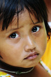 女孩画象在槟知,越南 免版税库存照片