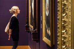 Δωμάτιο μουσείων Καλών Τεχνών του Μόντρεαλ Στοκ Εικόνες