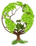 绿色树地球地球世界概念 库存照片