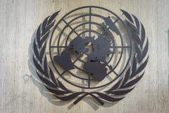 联合国标志 免版税库存照片