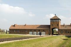 纳粹德国集中营奥斯威辛 免版税库存照片