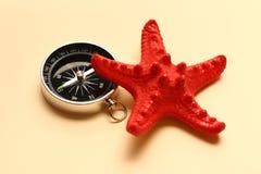 Αστέρι πυξίδων και θάλασσας Στοκ Εικόνα