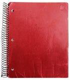 笔记本老红色 免版税库存图片