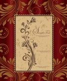 美丽的葡萄酒花卉看板卡 图库摄影