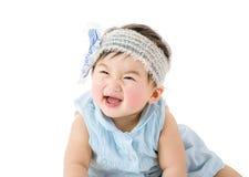 亚裔女婴激动 免版税图库摄影