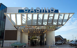 戛纳-赌博娱乐场在节日宫殿  免版税图库摄影