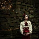 小红骑兜帽。童话 免版税库存照片