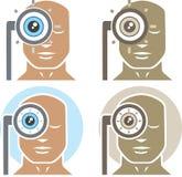 Εξέταση ματιών Στοκ φωτογραφία με δικαίωμα ελεύθερης χρήσης