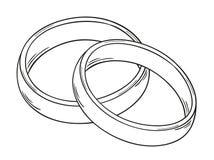 两个圆环 免版税库存照片