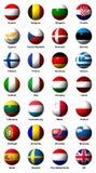 欧盟的旗子拼贴画与标签的 库存照片