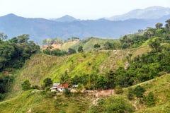 绿色多小山风景 库存图片