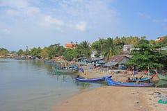 渔村,酸值苏梅岛,泰国 免版税库存照片