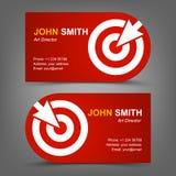 Επαγγελματική κάρτα. Στόχος. Δρομέας Στοκ Εικόνα