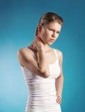 Боль шеи Стоковое Изображение RF