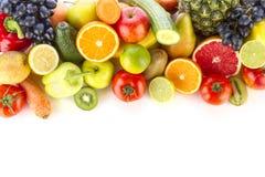 新鲜,健康水果和蔬菜 图库摄影