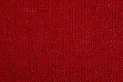 红色织品纹理 免版税库存照片