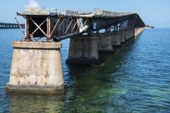 老基韦斯特岛桥梁 免版税库存图片