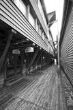 στενή οδός του Μπέργκεν Στοκ Φωτογραφία