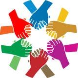 握手队 免版税图库摄影
