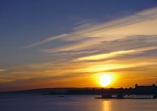 Ανατολή της Ερυθράς Θάλασσας Στοκ Εικόνα