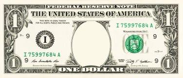 Одна долларовая банкнота Стоковая Фотография RF