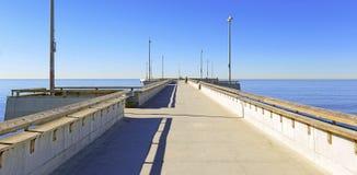 在威尼斯海滩,加利福尼亚的码头 库存图片