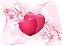 вектор иллюстрации предпосылки романтичный Стоковая Фотография RF