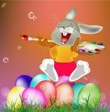 愉快的兔子和复活节彩蛋 库存图片