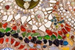 五颜六色的给上釉的瓦片 免版税库存照片