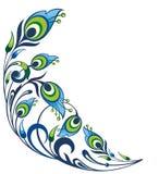 孔雀用羽毛装饰背景 免版税库存图片