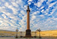 宫殿方形的圣彼德堡,俄罗斯 库存照片