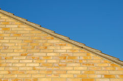 屋顶天空墙壁 免版税库存照片