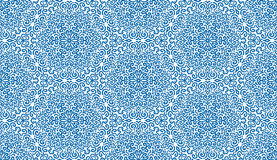精心制作的蓝色幻想花无缝的样式 免版税图库摄影