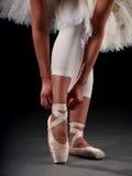 芭蕾舞女演员鞋子 库存照片