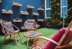 Патио сада дома Стоковая Фотография RF
